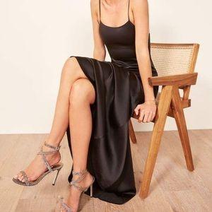 Reformation Athena Silk Black Dress Sz Small NWT